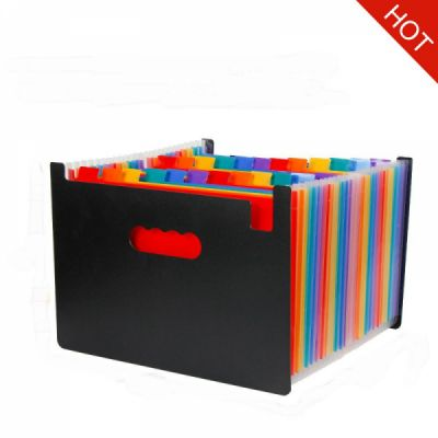 Expanding File Organizer with 24 Pockets for Office/ Business/ Study, Large Capacity Multi-Color A4 Accordion File Organizer