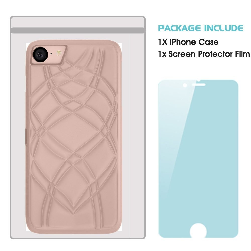 iPhone 6/6s Case with Hidden Back Wallet and Creative Mirror Design for Girl