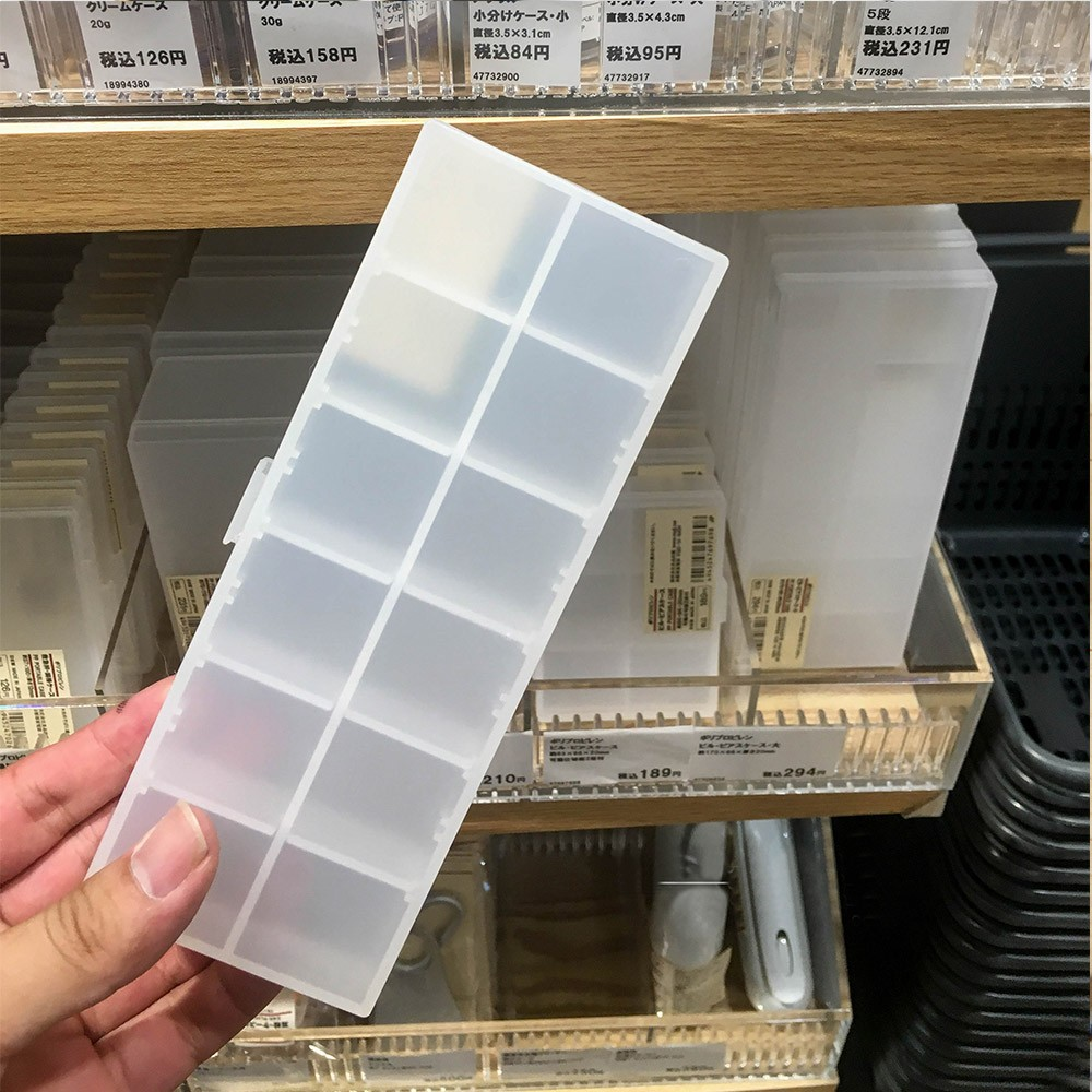 7 Day Large pill Organizer With Adjustable Dividers, Multipurpose Pop-up Pill Box for Bussiness Trip