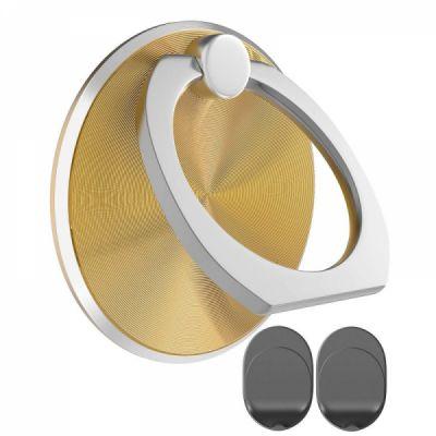 360° Rotation Phone Finger Ring Hook Grip Holder and Car Mount Base for iPhone, Smartphones, Tablets