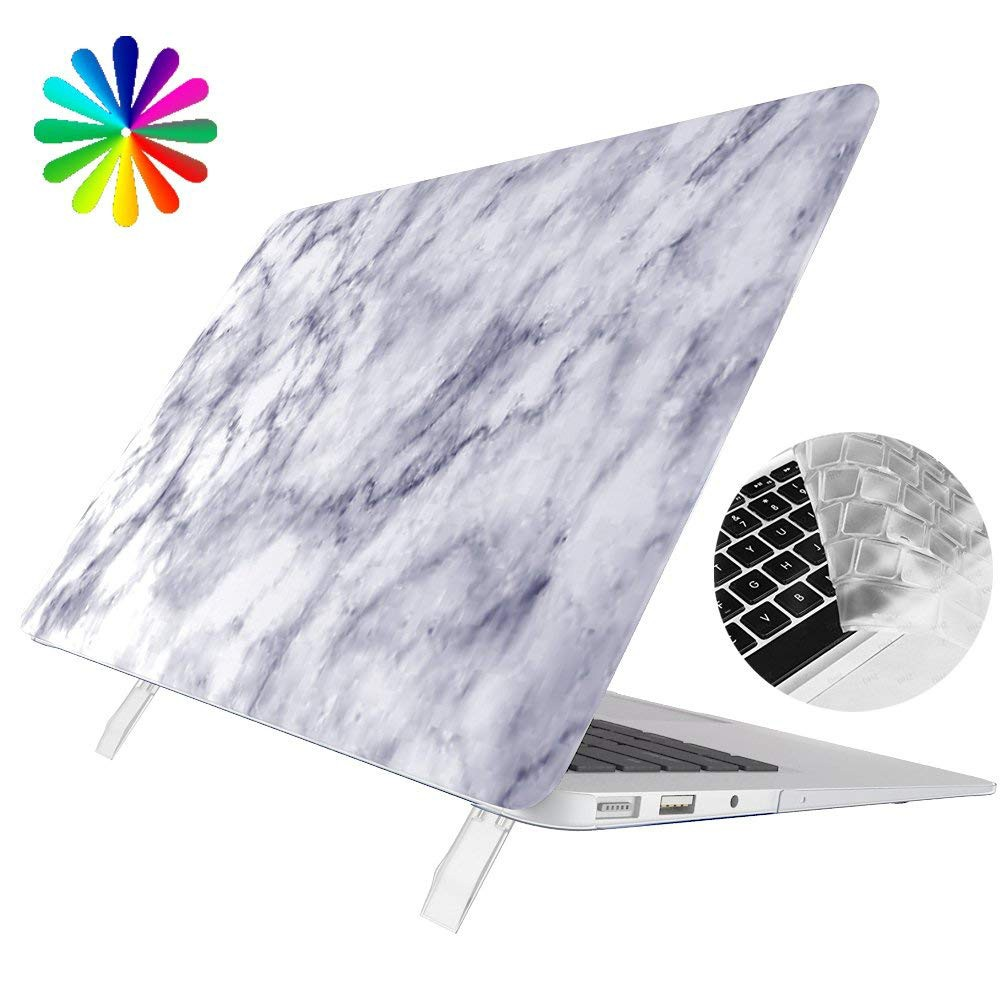 MacBook Air 13 Kickstand Case, Shock Proof Plastic Hard Shell Case with Transparent Keyboard Cover for Apple Macbook Air 13 Inch