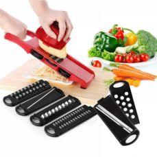Multipurpose Mandoline Vegetable Slicer with Safty Handguards and 6 Stainless Steel Blades