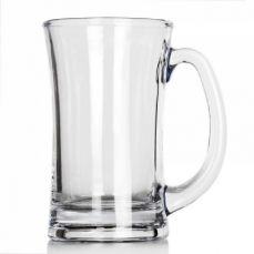 Multi-purpose Large Glass Beer Mug for Beer Coffee Milk Tea Juice - 12 OZ