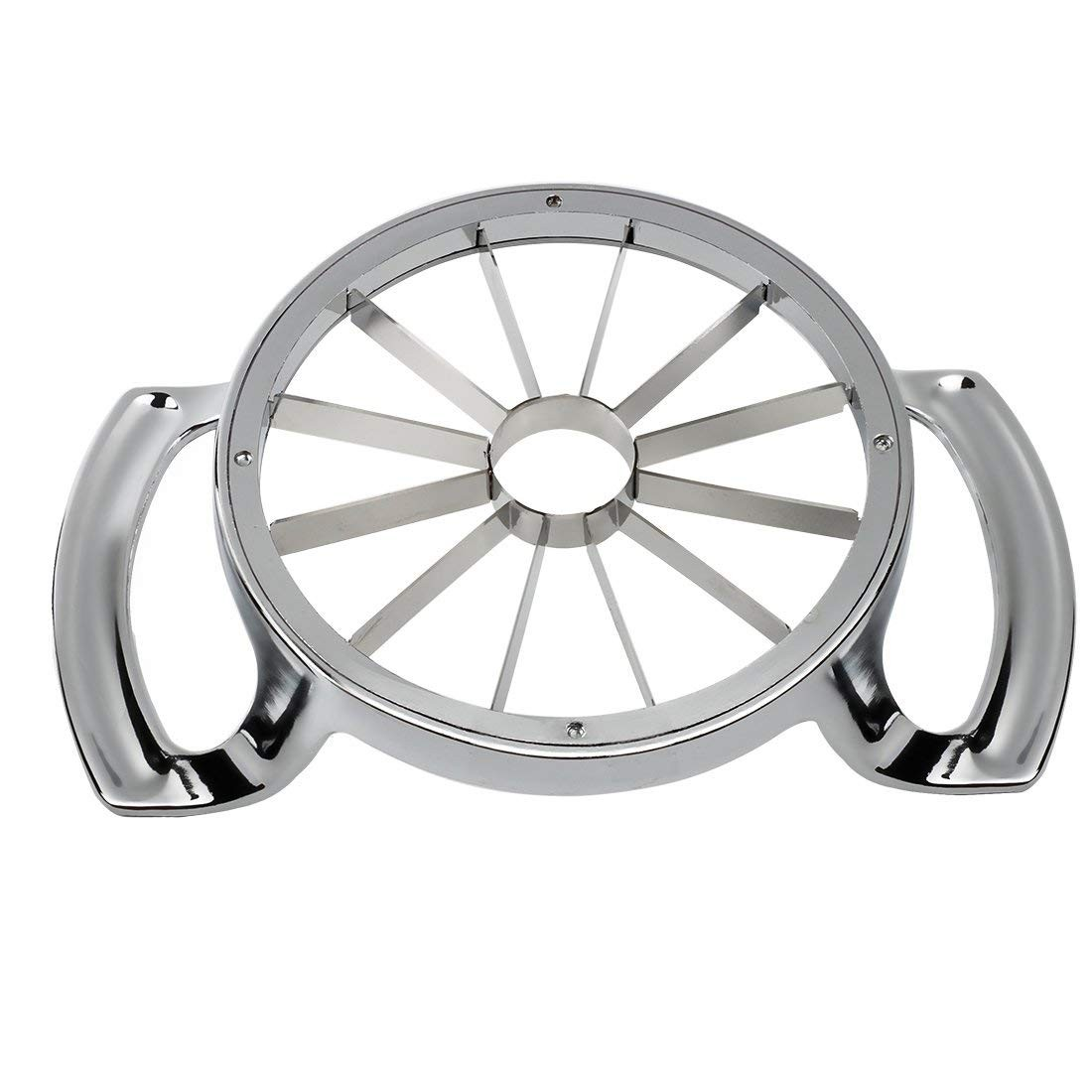 Stainless Steel Apple Slicer Cutter, Fruits Corer Pitter for Cut and Core Apples or Pears Into 12 Even Wedges