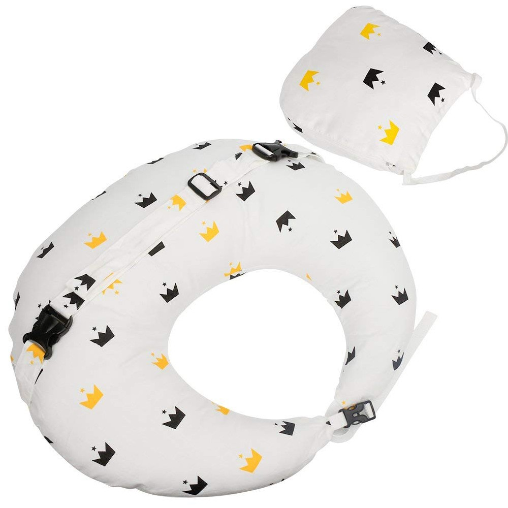 Washable Cotton Baby Feeding Pillow, Soft and Comfortable Baby Nursing Pillow for Mom and Baby
