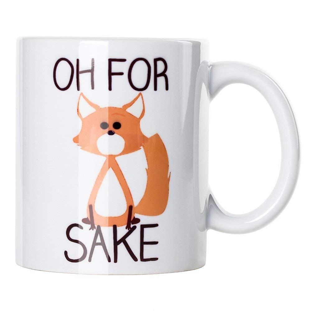 Cute Oh For Fox Sake Coffee Mug,11 Oz Durable Unique Milk Tea Mug