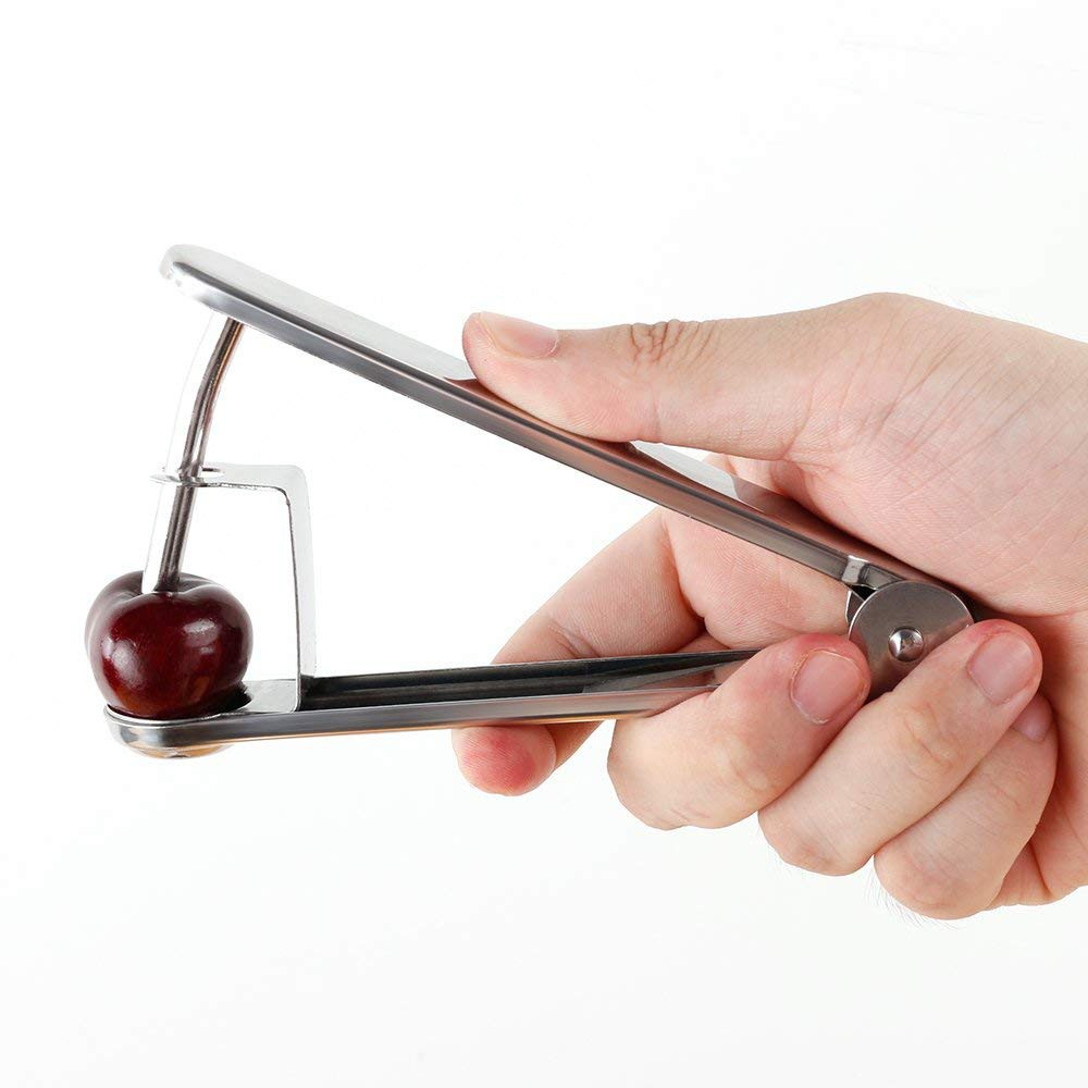 Stainless Steel Cherry Pitter, Olive and Cherry Pitting Tool for Making Cherry Cake Pasty Juice Jam Safer and Healthier