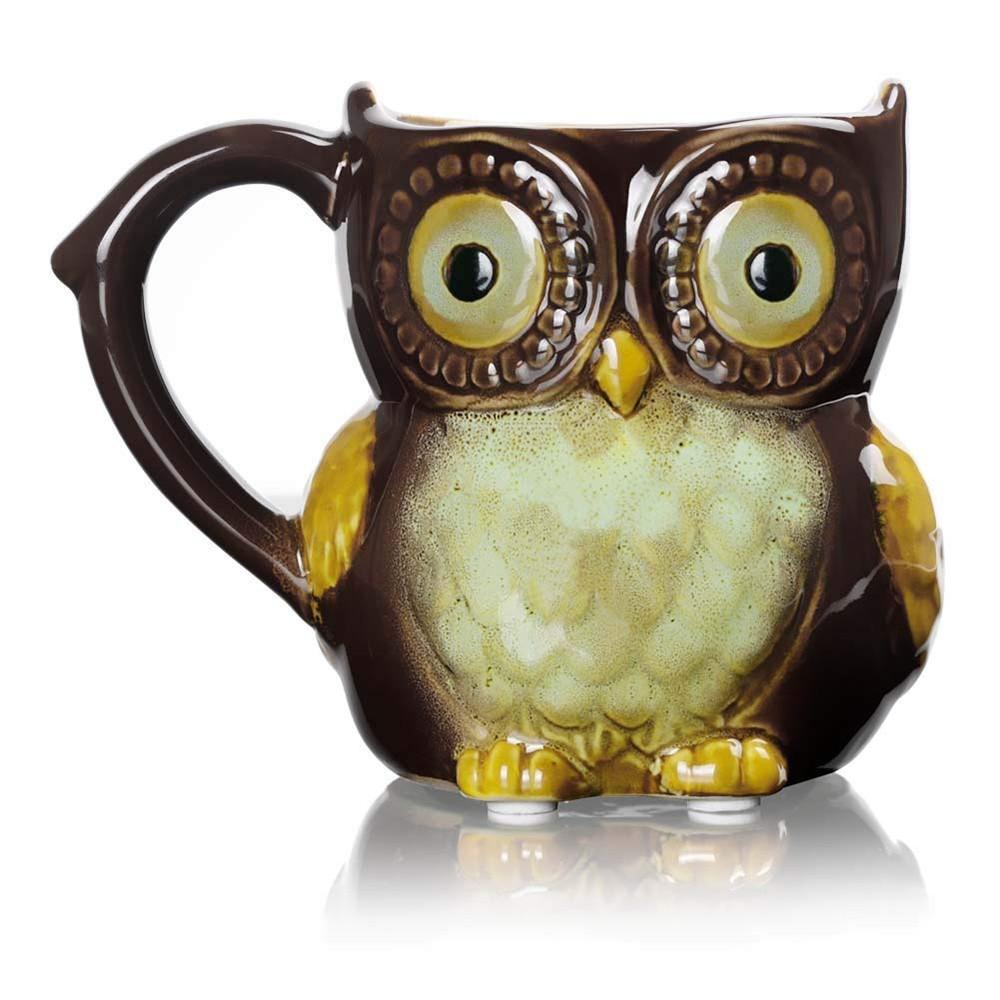 Funny Owl Ceramic Coffee Mug Tea Mugs,Cute Owl Morning Coffee Cup 12 oz