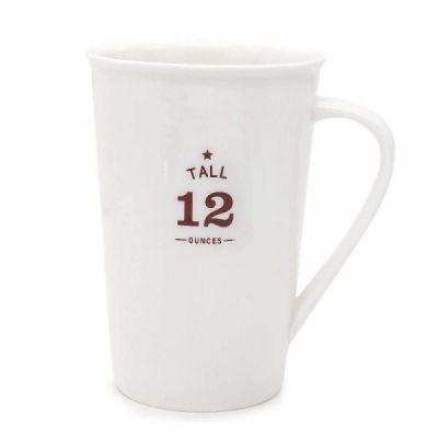 White Ceramic Coffee Mugs,12 oz Minimalism Milk Mug for Home and Office