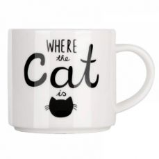 Funny Coffee Mug with Cat Print, Lovely Cartoon Ceramic Tea Mug, 10 oz