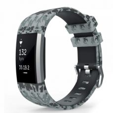 Camo Fitbit Charge 2 Silicone Band, Adjustable Replacement Sport Strap Printed Bands with Classic Buckle for Fitbit Charge 2