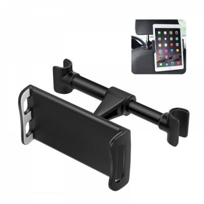 Universal Car Headrest Mount Holder, 360°Rotatable Car Seat Tablet Holder for 4 - 11 Inch Smartphones and Tablets