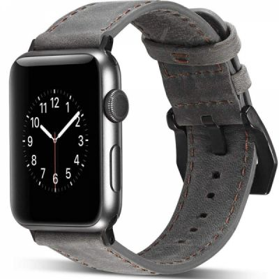 Apple Watch Band Replacement 38mm, Genuine Leather Strap with Adjustable Buckle for Apple Watch Series 3/2/1