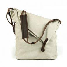 Oversized Casual Canvas Crossbody Messenger Bag, Unisex Retro Hobo Bag for Men and Women