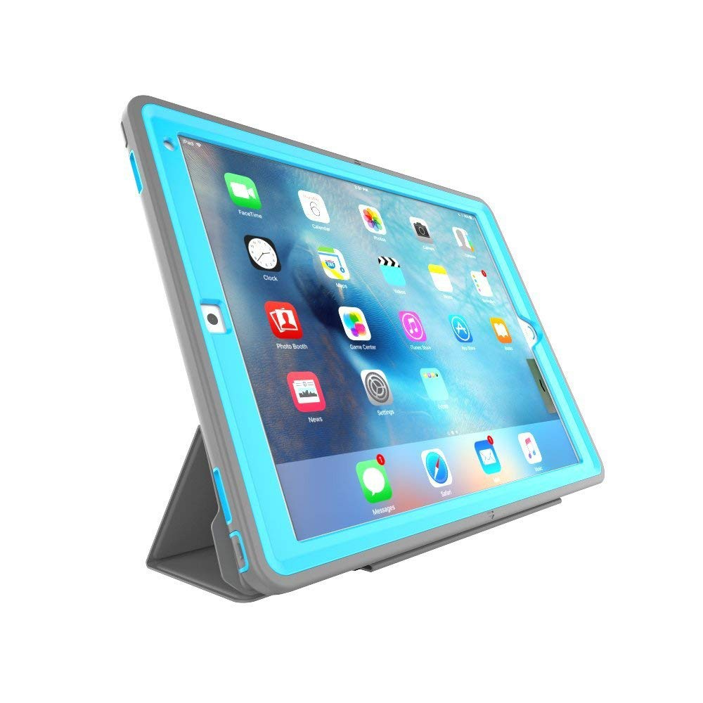 iPad Pro 12.9 Case with Auto Sleep/Wake Function, Smart Stand Heavy Duty Protective Case for Apple iPad Pro 12.9 Inch