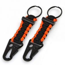Paracord Carabiner Survival Keychain Firestarter, 2 Pack of Survival Keychain Outdoor Gear For Hiking, Camping, Hunting, Fishing