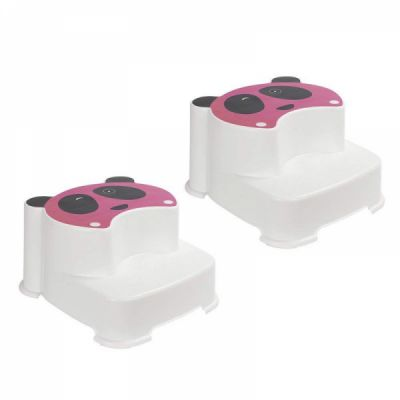 Non Slip Dual Height Two Step Stool for Kids, Portable Bathroom Potty Stool and Kitchen Step Stool - 2 Pack