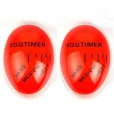 Colour Changing Perfect Egg Timer, 2 Pack Heat Sensitive Egg Timer for Chefs, Cooking