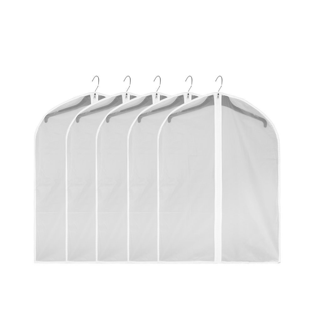 Dustproof Durable Garment Bag, Pack of 5 Clear Waterproof Garment Covers