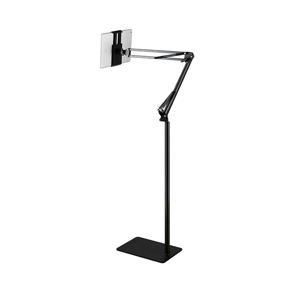 Tablet Phone Floor Stand, Extendable Hand-free, Compatible with iPad Air, mini, Pro, Samsung Tab, Adjustable Universal Metal Floor Stand Fits for 4-11 inch