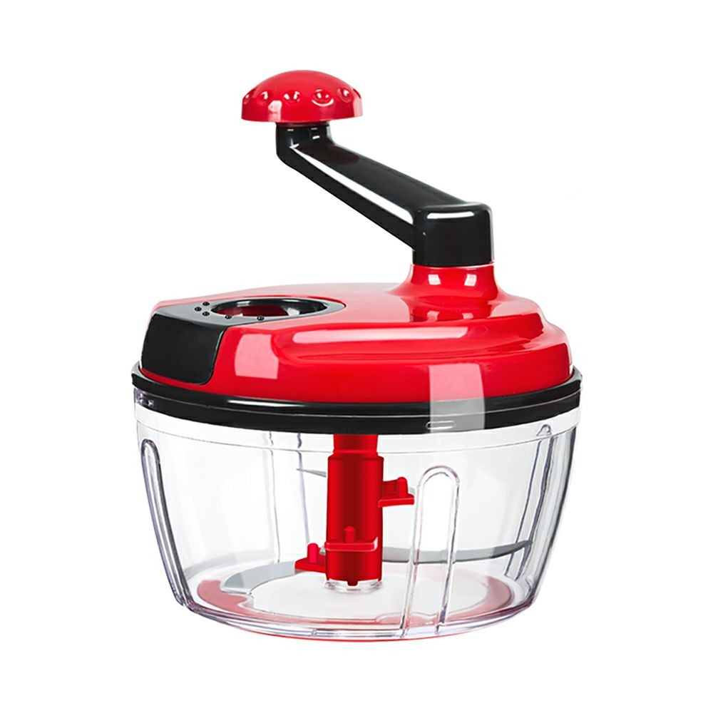 Multi-purpose Manual Food Chopper Processor for home and traveling use, BPA Free 5 in 1 Hand-operated Chop Meat Vegetables Fruit Processor