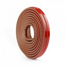 Rubber Weather Stripping for Doors and Windows, Self-adhesive Soundproof Door Sealing Strip Tape, 3/8 inch x 1/4 inch x 19.6 Feet