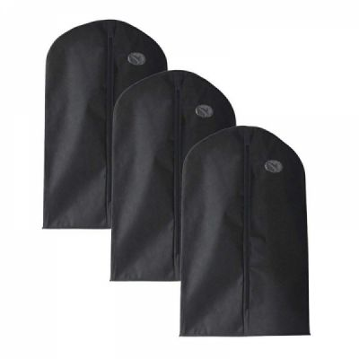 Zipper Garment Bags, Durable & Breathable Cloth Cover For Long Suit Dress Trousers Tops, 40 Inch