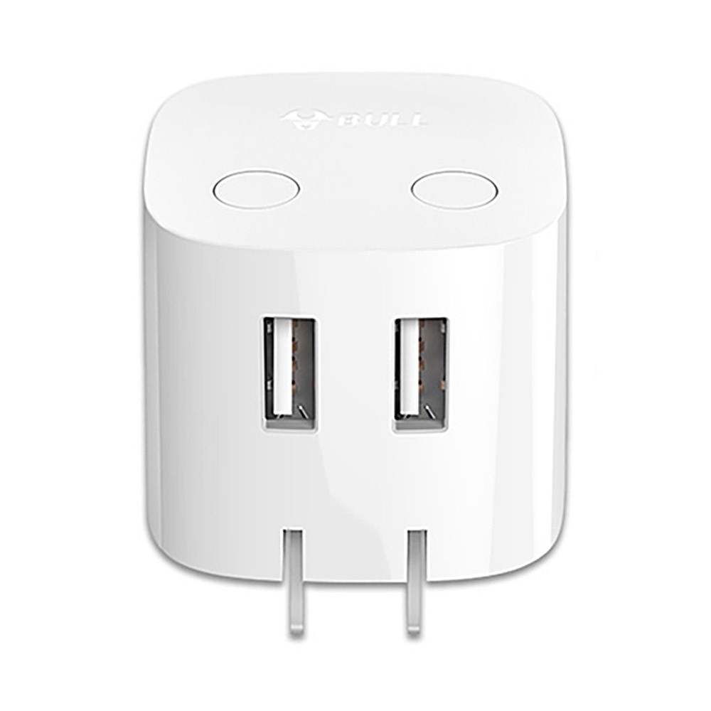 Universal Auto Power Off Quick Charger Plug for iPad Samsung Galaxy Tab, Practical USB Charger Adapter Compatible for iPhone & Android Devices