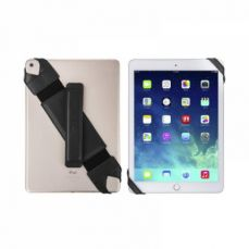 Universal PU Leather Hand Strap Holder for Phones Tablets, 360 Degrees Swivel Leather Handle Grip with Elastic Belt for 9.7 inches Pad and 10.1 inches iPad or Android devices