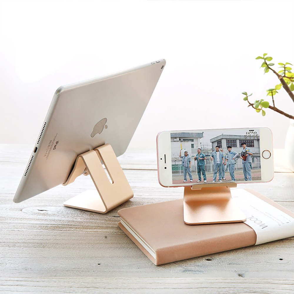 Stylish Adjustable Multi-angle Stand Compatible with iPhone iPad Kindle Android Device 4 inch to 10 inch Universal Hand Free Desktop Stand