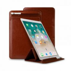 High-end Stand View Case for 9.7 inch iPad Pro, Superior Microfiber PU Leather Folio Sleeve Cover with Apple Pencil Cover