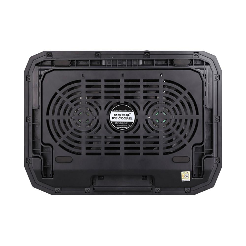 Universal Laptop Quiet LED Fans Cooler Pad, Portable Heat Dissipation Notebook Cooler Temperature Sensor for 12- 17 inch Laptop Accessories