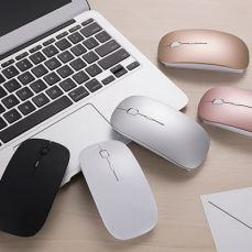 Rechargeable Wireless Mouse, Lightweight Slim Bluetooth Mice for Notebook, PC, Laptop, Windows/Android Tablet, MacBook Air
