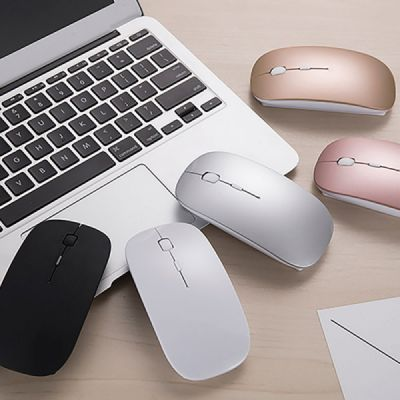 5858be28180 Rechargeable Wireless Mouse, Lightweight Slim Bluetooth Mice for Notebook,  PC, Laptop, Windows