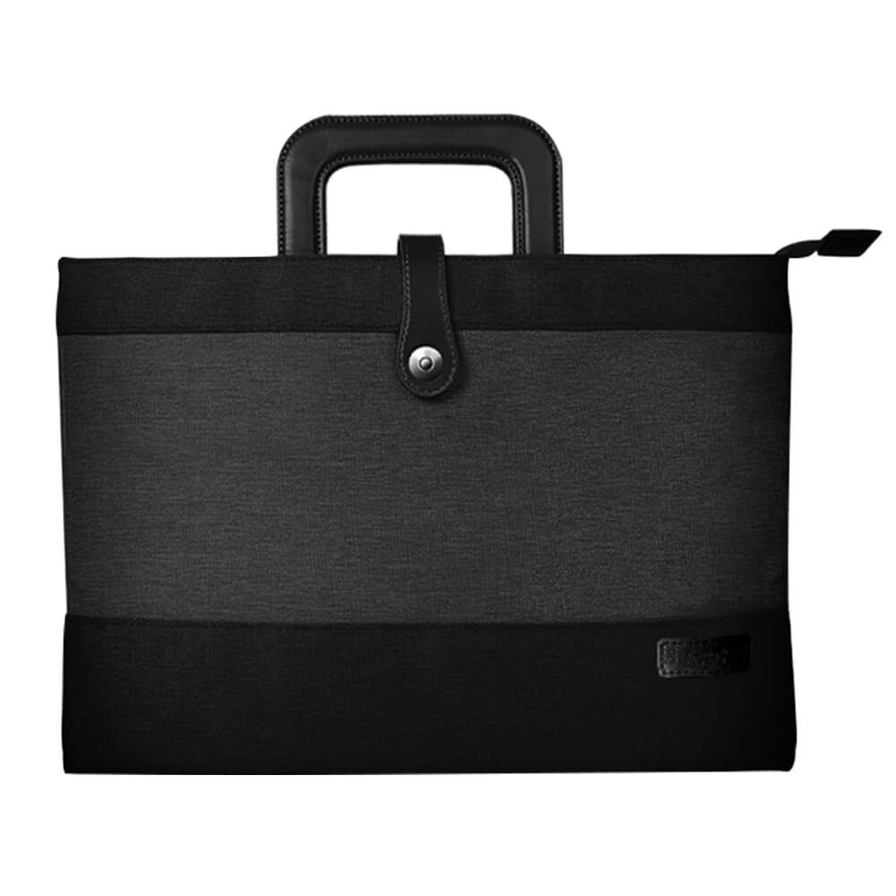 Notebook Handbag with Pouch, Universal Magnetic Snap Briefcase for Macbook Air/Pro or other Laptops Bag, 12-15 inch