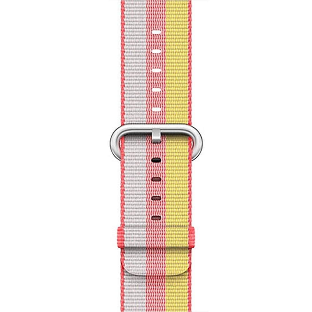 38mm 42mm Soft Nylon Sport Loop Band with Stainless Metal Snap for Apple iWatch Replacement Watch Strap with Stainless Metal Buckle