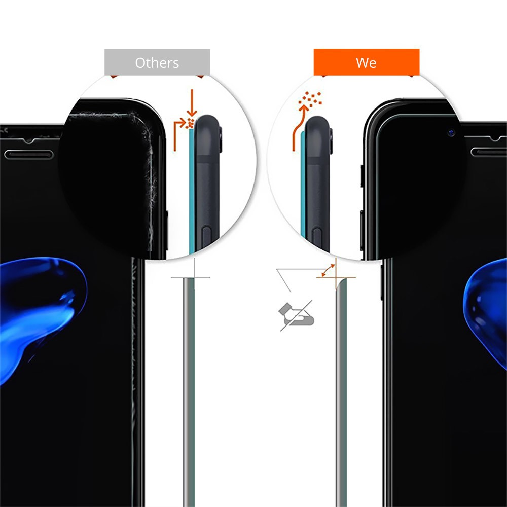 Phone Accessories Impact Shield Anti-glare Precise-align Perfect Fit Screen Protector for iPhone 8/8 Plus, iPhone 7/7 Plus Protective Screen 4.7-5.5 inch Skin Protector