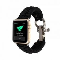 For Apple iWatch Replacement Watch Band, Premium 38mm 42mm Soft Nylon Sport Rope with Stainless Metal Shackle