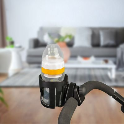 Stroller Accessories Superior ABS Anti-slid Adjustable Universal Stroller Cup Holder Baby Bottle Organizer Compatible with Baby Stroller