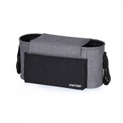 Universal Stroller Organizer Bag with Multiple Pockets and Insulated Cup Holder