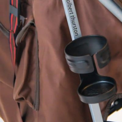 Anti-slid Adjustable Stroller Cup Holder Baby Bottle Organizer, Premium ABS Stroller Accessories Compatible with Universal Baby Stroller