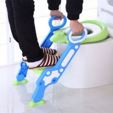 Toilet Training Seat with Non-slip Ladder for Girls Boys Potty Trianer with Step Tool Ladder for Kids