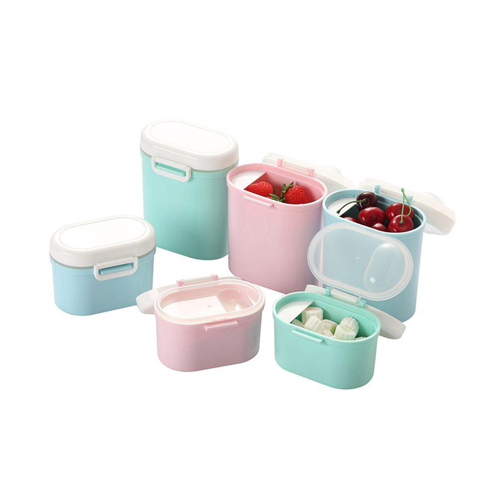 BPA Free Milk Powder Organizer Box for Household Outdoors Shopping Travelling, Universal Food Grade Multipurpose Individual Milk Powder Storage Case Snack Cups Microwave & Refrigerator Safe