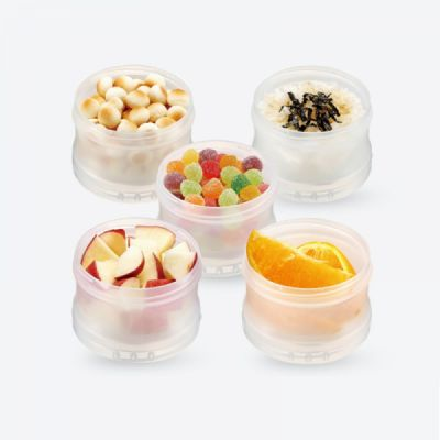Portable Milk Powder Dispenser for Outdoors Shipping Travelling, Food Grade BPA Free Multipurpose Milk Powder Storage Box, 3 Layer Individual Food Organizer Case Snack Cups