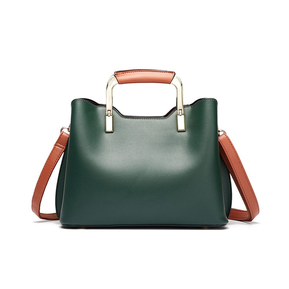 Fashionable Elegant Women's Handbag with Magnetic Button Stylish Durable Women's Briefcase with Shoulder Strap Crossbody Bag