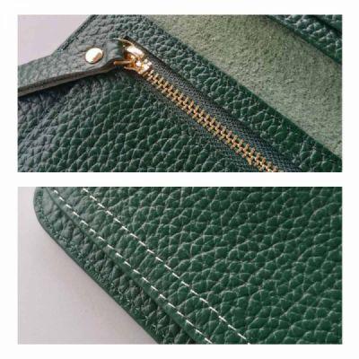 Women's Wallet with Multiple Compartments Card Slots Zipper Pocket, Lightweight Slim Sleek Women's Purse Grain Texture Soft Vintage Purse