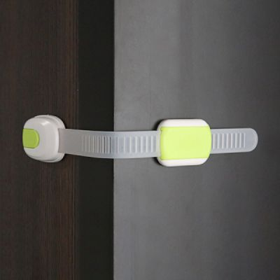 Universal Adjustable Children Proof Latch with 3M Double-sided Adhesive Compatible with Cabinets Drawers Refrigerator Children Proofing Lock, 5 Pack Baby Safety Accessories