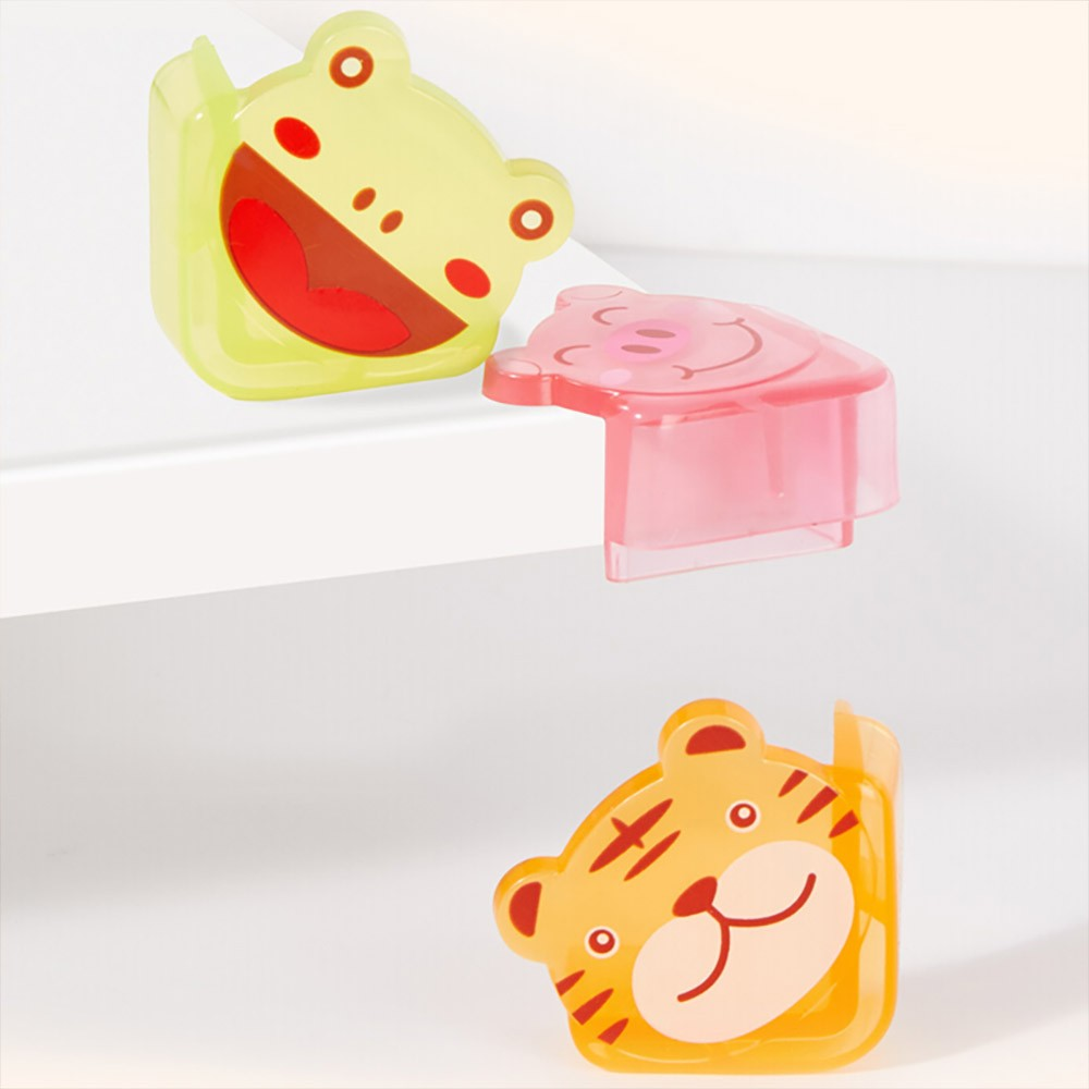 Cute Animal Shape Flexible Collision Prevention Corner Protector with Double-sided Adhesive for Furniture Against Sharp Corners, 8 Pack