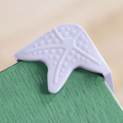 Starfish Eco-friendly Silicone Universal Collision Prevention Protective Cover with Double-sided Adhesive for Furniture Against Sharp Corners Flexible Thicken Impact Shield Corner Protector