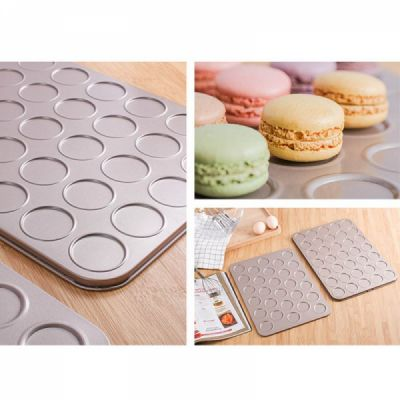 Universal Food Grade Nonstick Bakeware for Cookie Macarons, Carbon Steel Quick Release Coating Cupcake, Puff and Muffin Pan